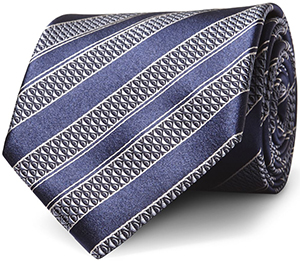 Ermenegildo Zegna Blue Striped Silk Tie: €150.