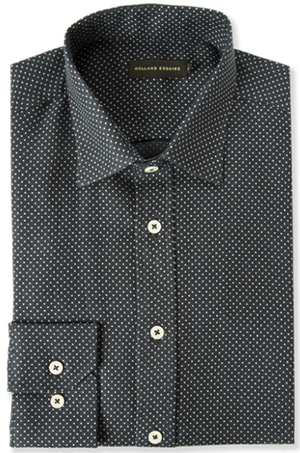 Holland Esquire Polkadot Cutaway Shirt, Navy: £149.