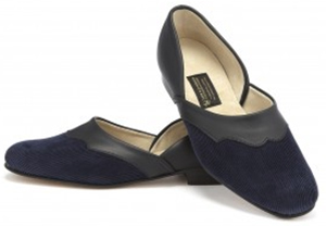 New & Lingwood Eton Cord Navy Slippers: £159.