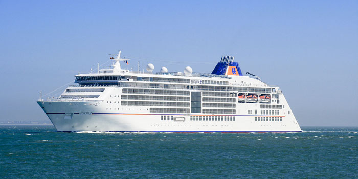 MS Europa 2 - 'The world's most luxurious cruise ship' (Berlitz Cruise Guide).