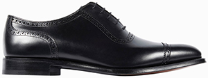 Gieves & Hawkes Black Leather Semi-Brogues men's shoe: £450.