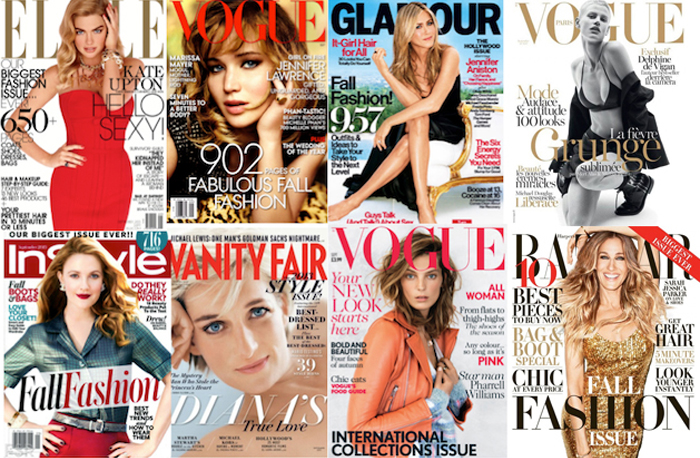September 2013 fashion magazine covers with record breaking issues.