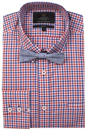 Hawes & Curtis Blue &ampM Red Grid Shirt: £59.
