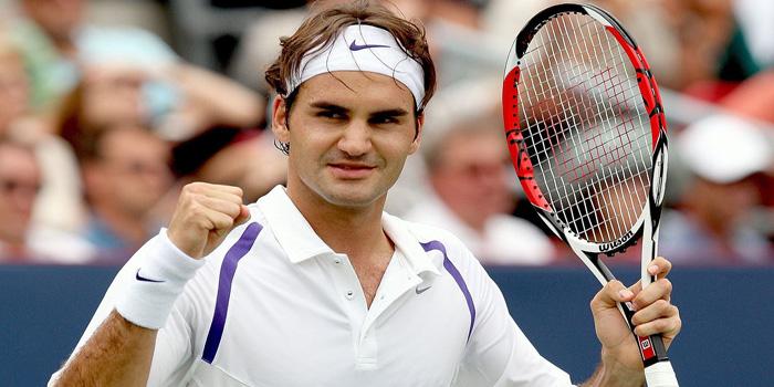 Tennis champion Roger Federer.