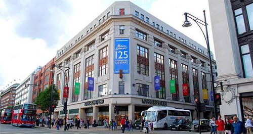 Marks & Spencer 485 Oxford Street Flagship Store.