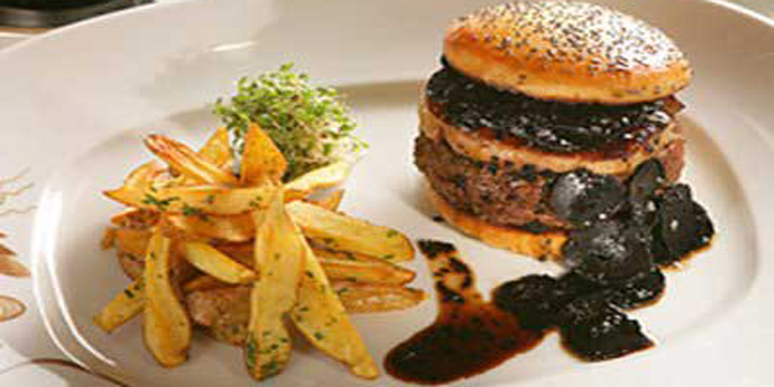 World's most expensive burger: The Fleurburger 5000 - US$5,000 at Mandalay Bay's Fleur by Hubert Keller restaurant in Las Vegas, NV, U.S.A.