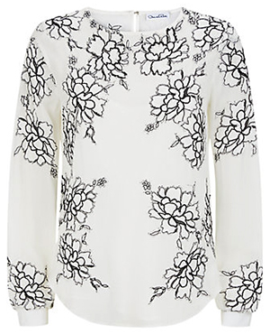 Harrods of London Oscar De La Renta Floral Lace Embroidered Blouse: £1,999.