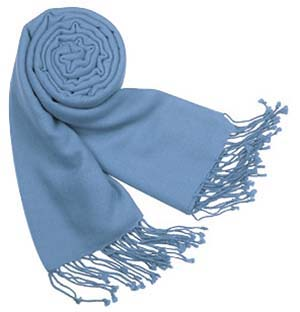 Forzieri Solid Pure Pashmina Fringed Shawl: US$350.