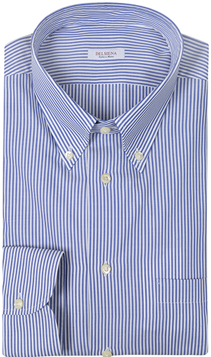 Forzieri Del Siena Striped Cotton Dress Shirt: US$145.
