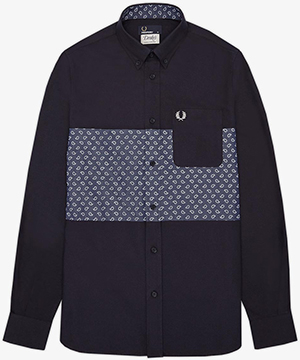 Fred Perry Drakes Paisley Panel Oxford Shirt: US$160.