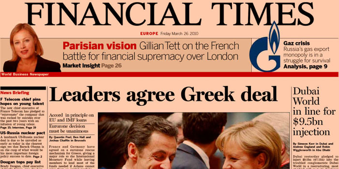 Financial Times (FT) - one of the world's leading business news and information organisations.