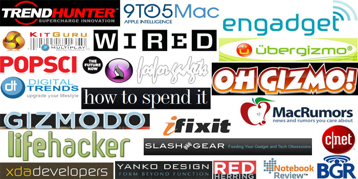 Top 100+ gadgets, electronics & technology blogs, magazines, media & websites.