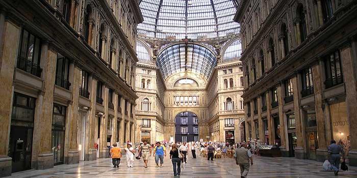 Galleria Umberto I, Via San Carlo, Naples, Italy.