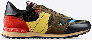 Valentino Psychedelic Camouflage Forerunner Men's Sneaker: US$995.
