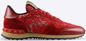 Valentino Forerunner Women's Sneaker in Macramé Lace: US$745.