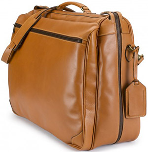 Tusting Garment Bag in Tan Atlantic Leather: £880.
