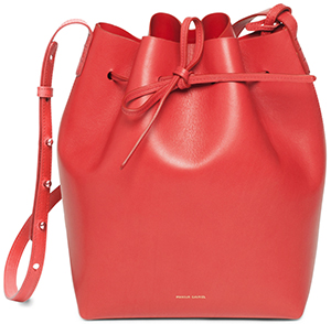 Mansur Gavriel cakf coated bucket bag: US$695.