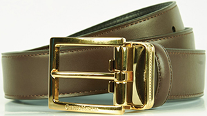 Gieves & Hawkes Dark Brown Dress Belt: £225.