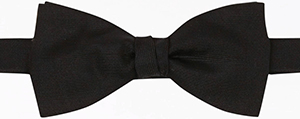 Gieves & Hawkes Black Solid Ottoman Ready Tied Bow Tie: £45.