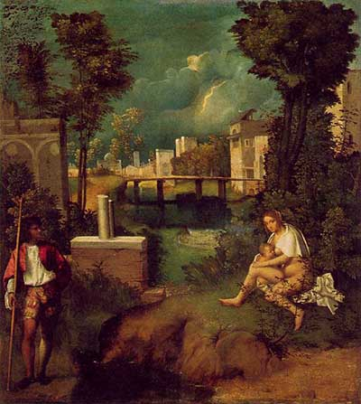 The Tempest (Italian <i>La Tempesta</i>) is a Renaissance painting by Italian master Giorgione dated between 1506 and 1508.