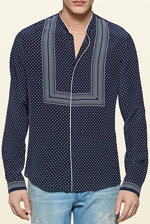 Gucci printed silk crepe men's shirt: US$870.