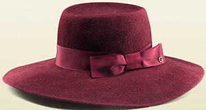 Gucci women's felt velour wide-brimmed hat: US$525.