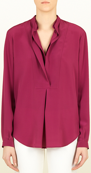 Gucci silk crêpe de chine double front women's shirt: US$750.