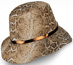 Giorgio Armani women's hat in printed fabric: US$695.