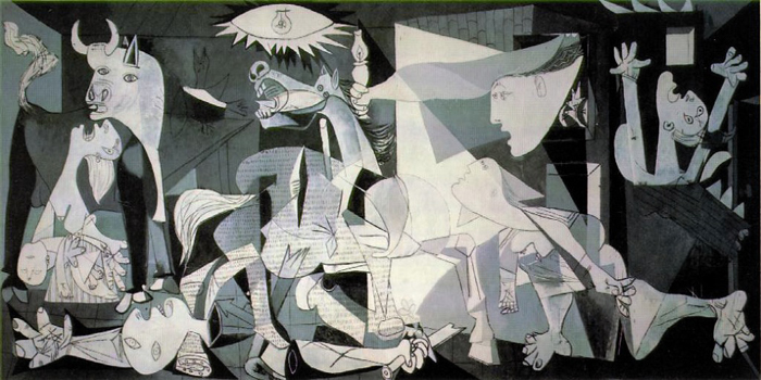 Guernica (1937) is a painting by Pablo Picasso (1881-1973).