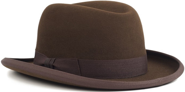 Lagomarsino Brown Hamburgo Hat.