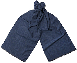 Hilditch & Key Cashmere /Wool/Silk Blend Birdseye Blue Men's Scarf: £195.