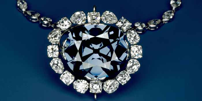 The Hope Diamond is a large, 45.52-carat (9.10 g), deep-blue diamond, now housed in the Smithsonian Natural History Museum in Washington, D.C., U.S.A.