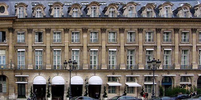 Ritz Paris, 15 Place Vendôme, Paris, France.