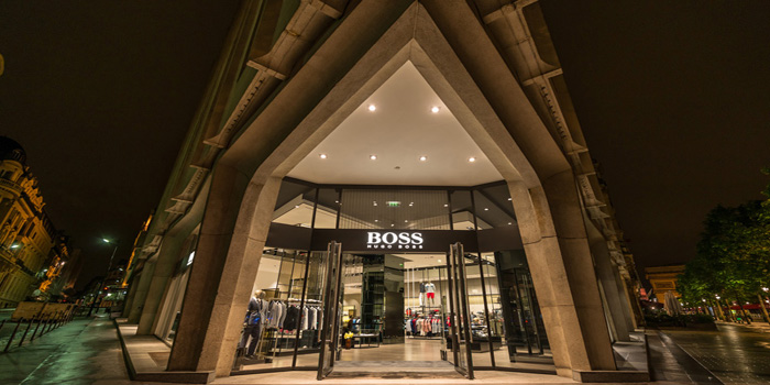 Hugo Boss flagship store, 115, avenue des Champs Elysées, 75008 Paris, France.