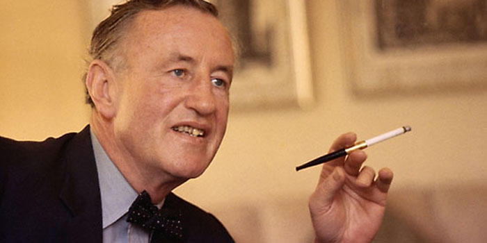 English author, journalist and naval intelligence officer Ian Fleming (1908-1964) - best known for his James Bond series of spy novels.