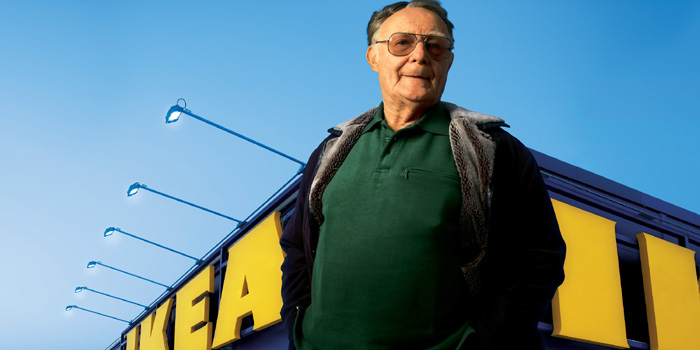 Ingvar Kamprad - world's fifth richest man: US$53.4 billion (as of December 31, 2013. Bloomberg Billionaires).