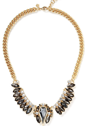 Rebecca Minkoff Clustered Stones Statement Necklace: US$198.
