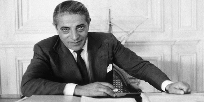 Aristotle Onassis - Greek shipping magnate (January 15, 1906 – March 15, 1975). Aka 'The Golden Greek'. Billionaire & bon vivant.