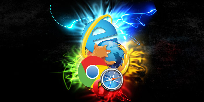 The four top web browsers: Chrome, Firefox, Safari & Internet Explorer.