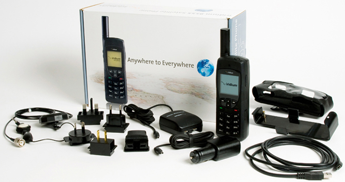 Iridium 9555 Satellite Phone Complete Kit.