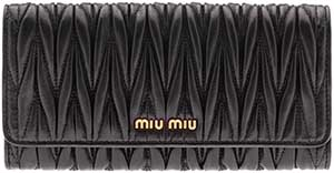 Miu Miu women's wallet: £360.