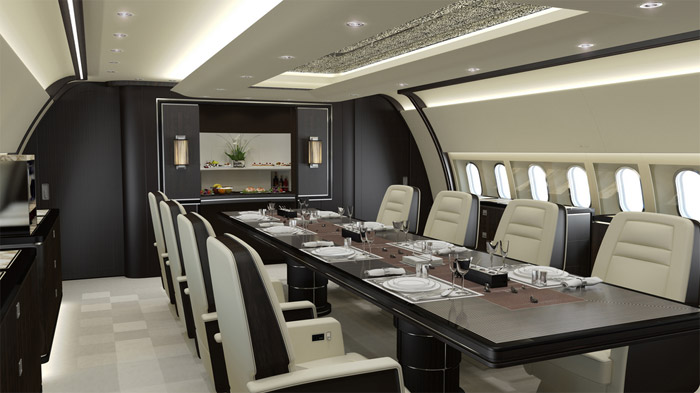 Top 10 best high end business private jet interior for Top 10 interior designers