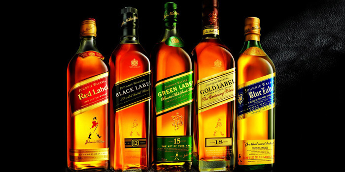 Johnnie Walker blended Scotch whiskies.