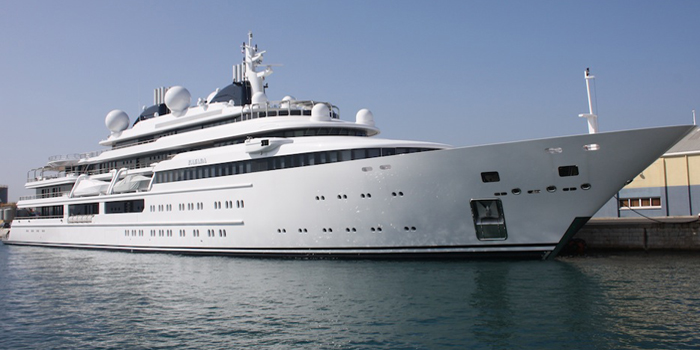 Katara - the world's 14th largest yacht: 408 ft / 124 m.