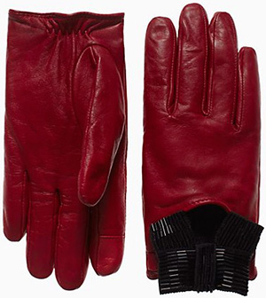 Kate Spade Madison Ave. Collection Bow Women's Driving Gloves: US$228.