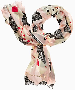 Kate Spade Las Vegas Scarves Playing Cards Women's Scarf: US$128.
