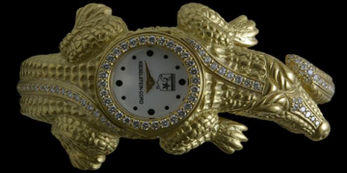 Kieselstein-Cord Alligator women's timepiece.