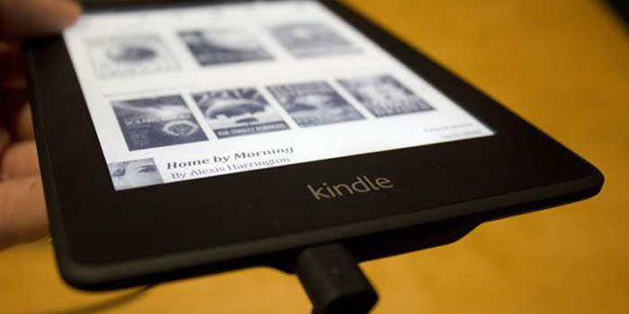 Kindle Paperwhite e-book reader.