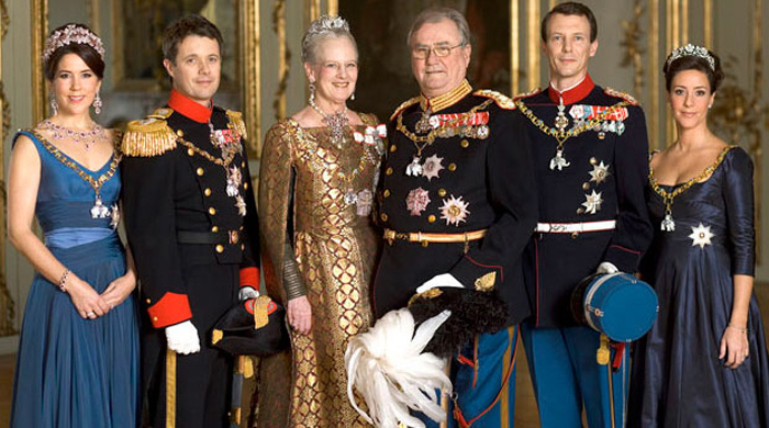 The Danish royal family.