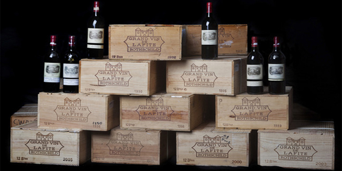 300 bottle collection of Grand Vin de Lafite Rothschild sold for $540,000 (2011).